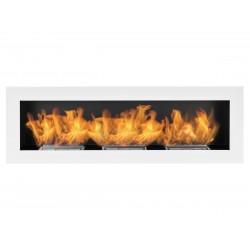 Biokominek Nice-House biały 120x40cm bezpieczny z regulacją ognia