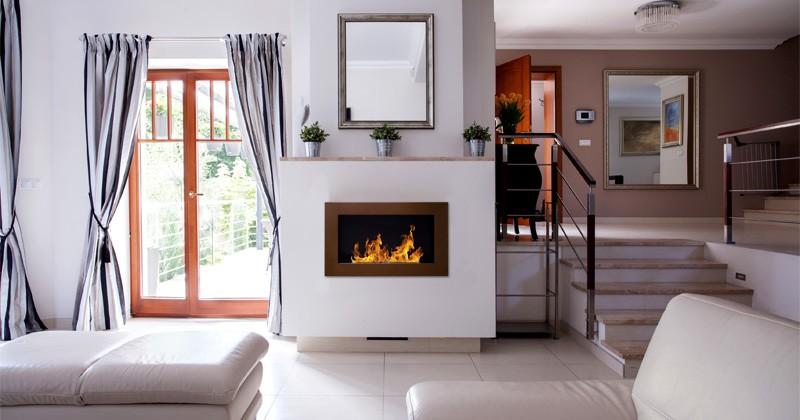 Biokominek Nice-House brązowy 65x40cm
